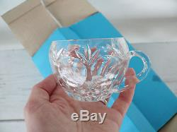 Cut Crystal Punch Bowl and 12 Mugs Cups Set Gorham BAMBERG Bleikristall, + ladle