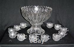 Duncan Miller #42 Mardis Gras Punch Bowl with 12 Punch Cups