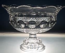 EAPG Adams US Glass XLCR Large Flared Orange Bowl Excelsior Kings Crown Punch