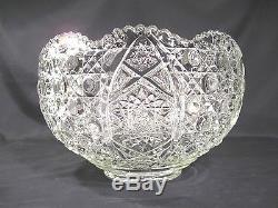 EAPG L E Smith Daisy and Button Punch Bowl with18 Cups