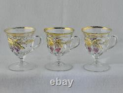 EAPG Northwood Cherry & Cable Punch Bowl With Eleven Footed Cups/Mugs