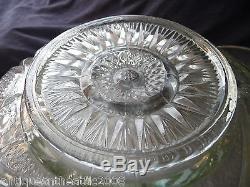 EAPG Slewed Horseshoe/Radiant Daisy Punch Bowl & 12 Original Matching Cups/Ladle