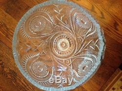 EAPG Slewed Horseshoe punch bowl, underplate, ladel, cups