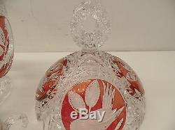 Echt Bliekristall Punch Bowl with lid and 6 glasses