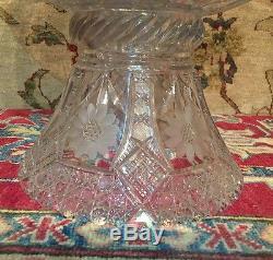 Elegant Antique 19th Century American Brilliant Cut Glass Crystal Punch Bowl