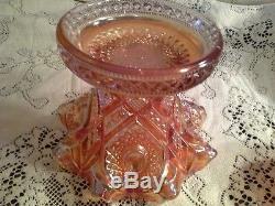 Exquisite Imperial Marigold Hobstar & Sun flower Pattern Punchbowl Set