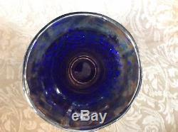 FENTON BLUE ORANGE TREE Punch Bowl & Base