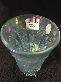 Fenton Art Glass, Aquamarine Punch Bowl with8 Tumblers, #4270 9N & 4272 4Y