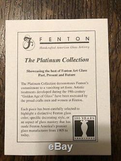 Fenton Art Glass, Hobstar Punch Bowl Set, 4270 9N, Platinum Collection 2005