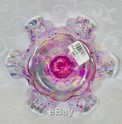 Fenton, Miniature Punch Bowl Set, Pink Iridescent Glass