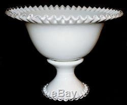 Fenton Silver Crest WMG #7313 Punch Bowl with #7378 Punch Base