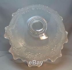 Fenton White Orange Tree Punch Bowl Carnival Glass