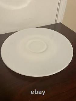Fenton hobnail milk glass punch bowl plate 16 Round. Hard To Find