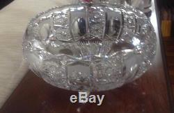 Footed Waterford Lead Crystal Bowl / Punchbowl mid-twentieth century $175