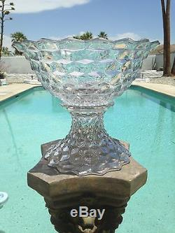 Fostoria America Punch Bowl and Stand/Centerpiece, Clear