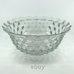 Fostoria American 14 inch Punch Bowl with Base With 12 Punch Cups
