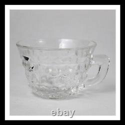 Fostoria American Clear Stem 2056 (1915-1982) Punch Bowl 18 & (14) Punch Cups