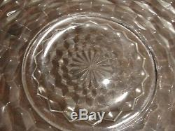 Fostoria American Crystal 18 Punchbowl 14 Cups With 19 Tray