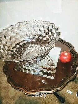 Fostoria American Elegant Glass Clear 18 Punch Bowl HUGE Amazing Rare GUCD