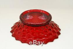 Fostoria American Punch Bowl Stand or Bowl Ruby Red