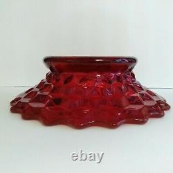 Fostoria American Ruby Red Bowl / Punch Bowl Stand