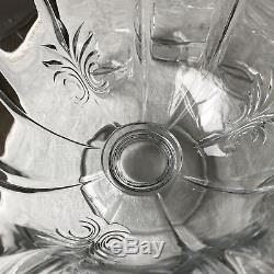 Fostoria Baroque Footed Crystal Punch Bowl