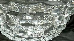 Fostoria Elegant Glassware Large 19 American Clear Glass Punch Bowl Vintage