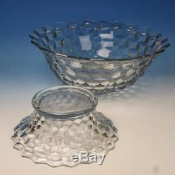Fostoria Glass American Crystal 18 Punch Bowl with Pedestal 3¾ gallons