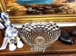 Fostoria Punch Bowl on Stand American Clear pattern