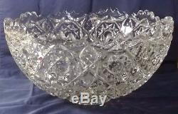 Fostoria Rosby Pressed Glass Large Punch Bowl