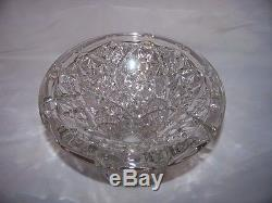 Fostoria Rosby Punch Clear Glass Bowl Set With Stand 10 Cups
