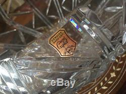 Genuine Hand Cut 24% Lead Crystal Vase Punch Bowl Poland Heavy 12 Diameter