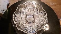 Gorgeous Rare Antique 20 Cup Punch Bowl on Platter