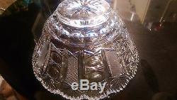 Gorgeous Rare Cut Glass Punch Bowl