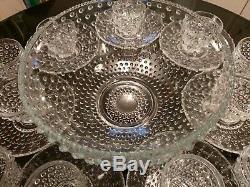 Gorgeous Unique Antique 12 Cup Punch Bowl Set