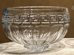 HEISEY GREEK KEY PUNCH BOWL AND LADLE ca. 1912-1938