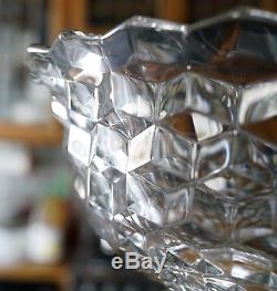 HUGE Fostoria AMERICAN CRYSTAL PUNCH BOWL with BASE Hard to Find
