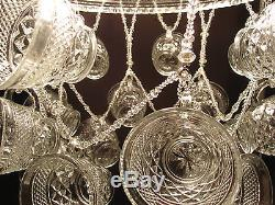 Hand-crafted Punch Bowl Chandelier (Anchor Hocking)