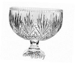 Hand cut crystal footed punch bowl-12 inches d