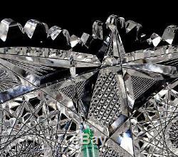 Hc Fry Empire Co Abp Brilliant Cut Glass Argo Pattern 12 Punch Bowl & Base 1900