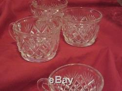 Heavy Crystal 20 piece Punch Bowl Set Pineapple Design. L. E. Smith Glass Co