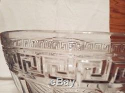 Heisey Glass Greek Key Punch Bowl/No Base