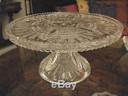 Heisey PRINCE of WALES Punch Bowl + 12 cups + PEDESTAL SPECIAL SET