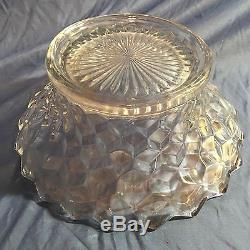 Huge 18 American Fostoria Punch Bowl And Stand