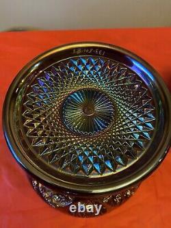 Huge Vintage Westmoreland Rubí Red Glass Carnival Fruits Punch Bowl Set 14pcs