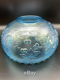 Ice Blue Carnival Glass 14 Piece Punch Bowl Set