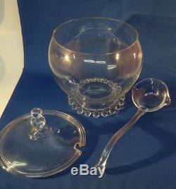 Imperial Candlewick Family Punch Bowl with Lid and Ladle 400/139/77