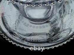Imperial Candlewick Punch Bowl AS IS, Plate, and 13 Cups Set
