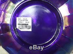 Impressive Large Fenton Punch Bowl, Blue Carnival, Grapes / Vintage NICE! G-284