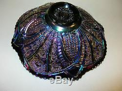 Indiana Glass Iridescent Amethyst Carnival Heirloom Punch Bowl Set with8 Cups